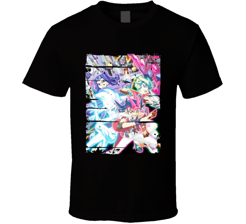 Yu-Gi-Oh Zexal II Anime Battle Card Worn Look Cool T Shirt