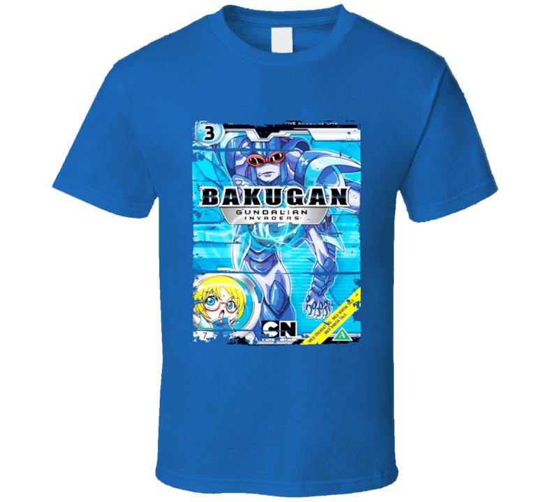 Bakugan Brawlers Gundalian Anime Battle Card Worn Look Geek T Shirt