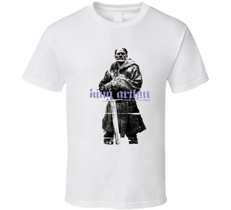 King Arthur Legend Of The Sword Poster CoolWorn Look Movie Fan T Shirt