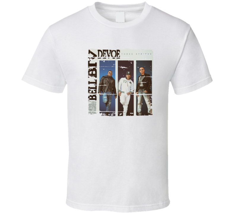 Bell Biv Devoe Three Stripes Cool Album Worn Look Music Fan T Shirt