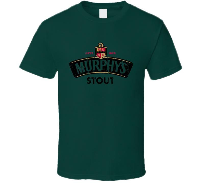 Murphys Stout Irish Beer Lover St Patricks Day Worn Look T Shirt