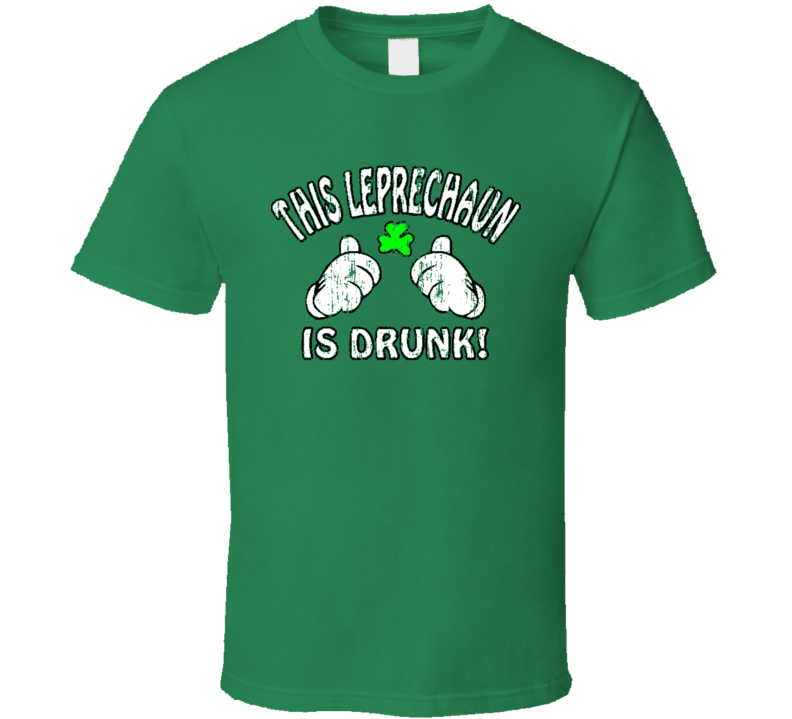 This Leprechaun Drunk Worn Look Funny Beer Lover St Patricks T Shirt
