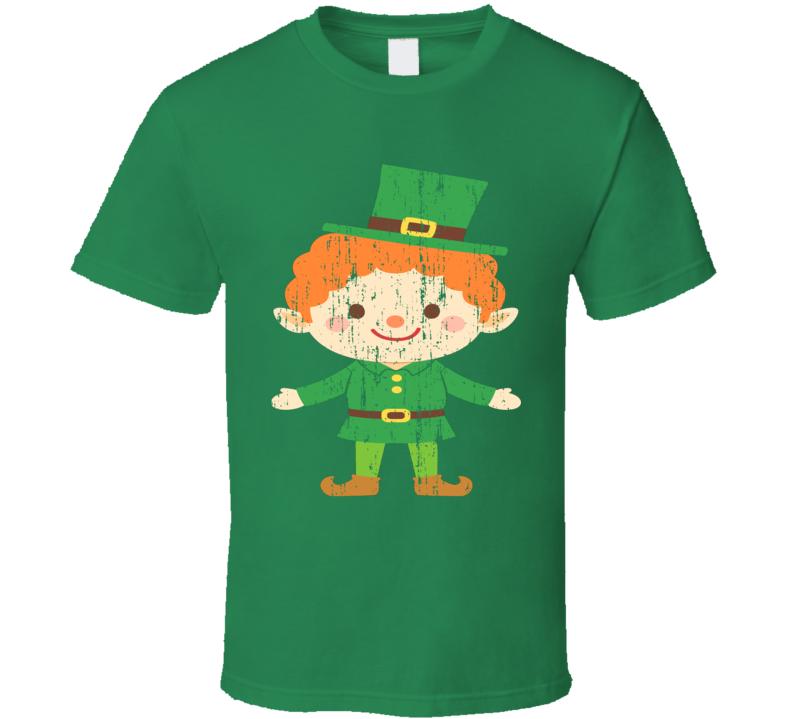 St Patricks Day Funny Worn Look Cool Irish Leprechaun  T Shirt