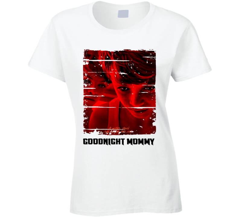 Goodnight Mummy Poster Cute Mothers Day Gift Worn Look Ladies T Shirt