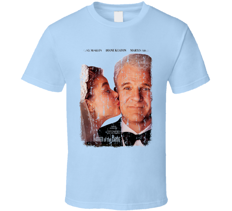 Father of the Bride Movie Poster Worn Look Cool Dads Gift T Shirt