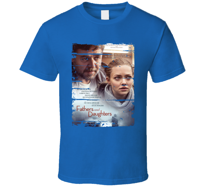 Fathers and Daughters Movie Poster Worn Look Cool Dads Gift T Shirt