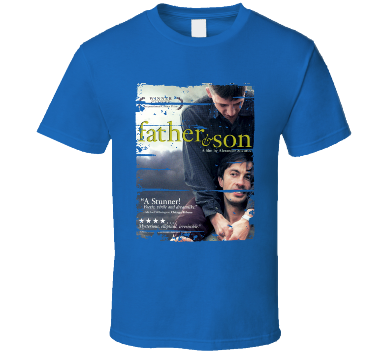 Father and Son Movie Poster Worn Look Cool Dads Gift Gift T Shirt