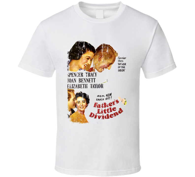 Fathers Little Dividend Cool Awesome Dad Gift Worn Look T Shirt