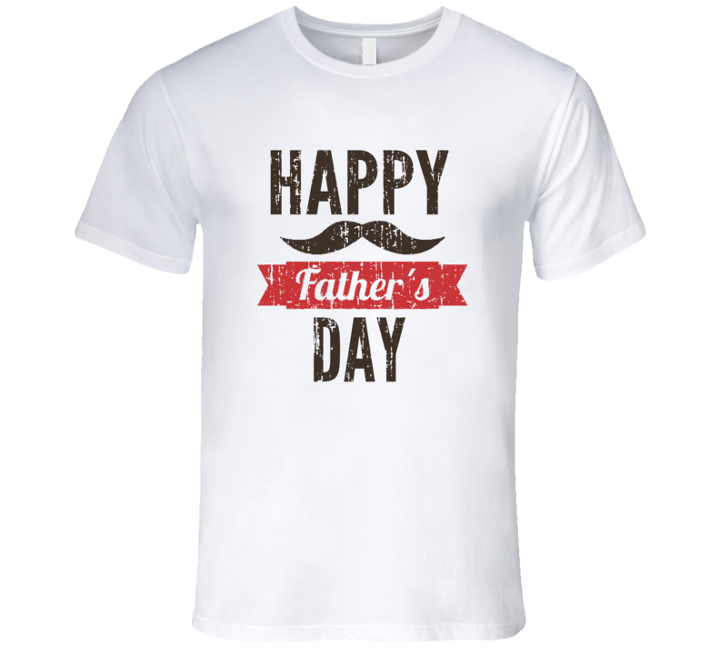 Happy Fathers Day Awesome Cool Daddy Gift Worn Look Mens Fitted T Shirt