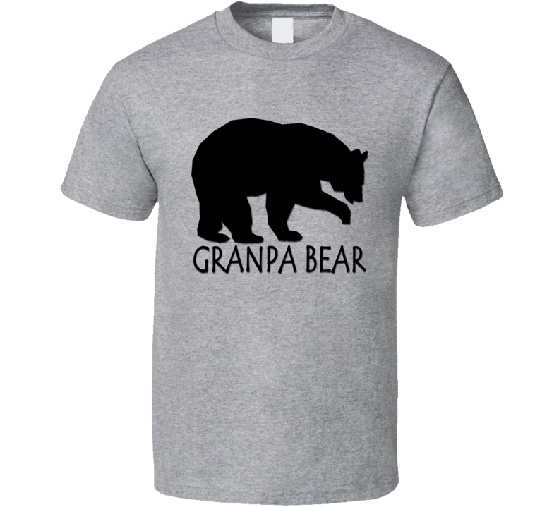 Grandpa Bear Fathers Day Gift Cool Animal Lover Funny T Shirt