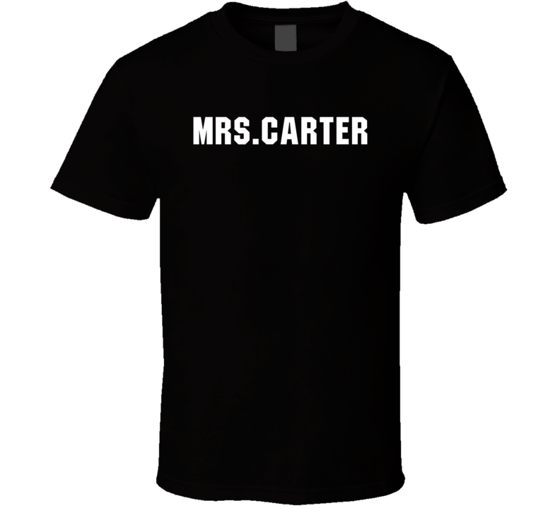 Mrs. Carter Worn by Singing Celebrity Beyonce Cool T Shirt