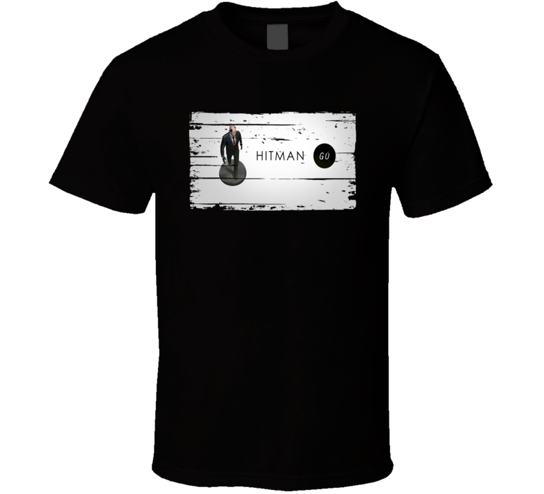 Hitman Go Cool Android App Mobile Game Fan Worn Look T Shirt