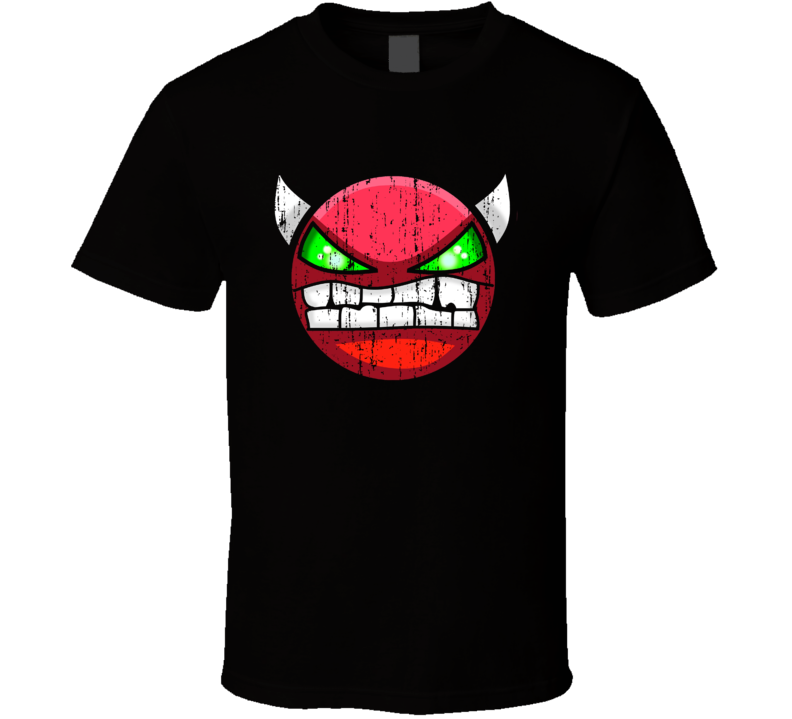 Geometry Dash Cool Android App Mobile Game Fan Worn Look T Shirt