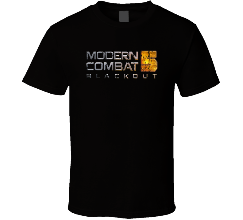 Modern Combat 5 Blackout Android App Mobile Game Fan Worn Look T Shirt