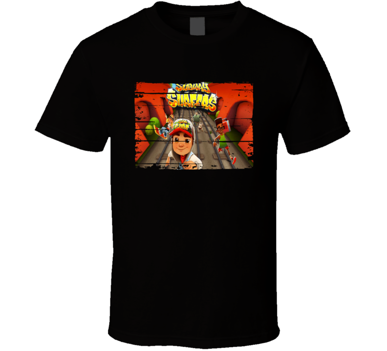 Subway Surfers Cool Android App Mobile Game Fan Worn Look T Shirt
