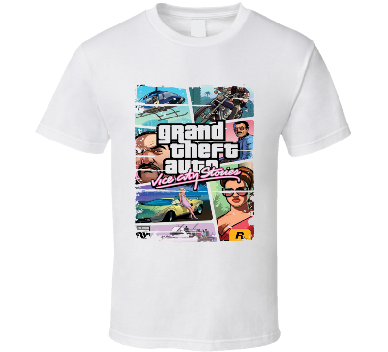 Grand Theft Auto Vice City Android App Mobile Game Worn Look T Shirt