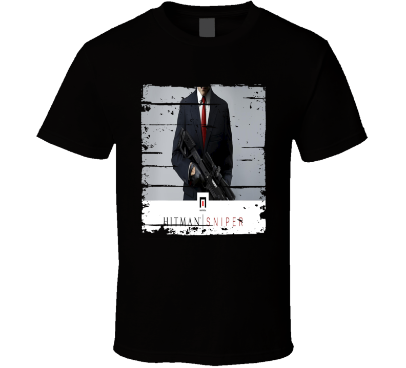 Hitman Sniper Cool Android App Mobile Game Fan Worn Look T Shirt