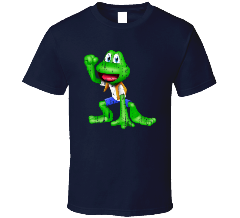 Frogger Cool Android App Vintage Mobile Game Fan Worn Look T Shirt