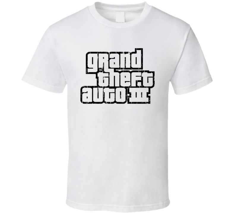 Grand Theft Auto III Cool Android App Mobile Game Worn Look T Shirt