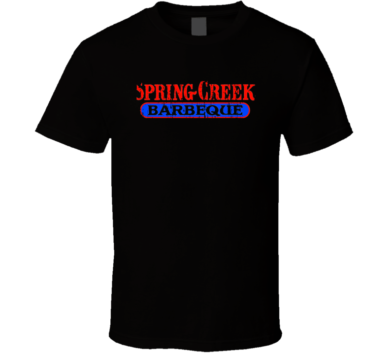 Spring Creek BBQ Cookhouse Grill Smoked Foodie Worn Look T Shirt