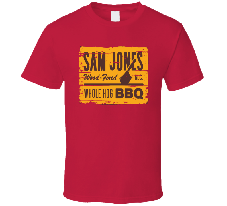 Sam Jones BBQ Diner Cookhouse Grill Smoked Foodie Worn Look T Shirt