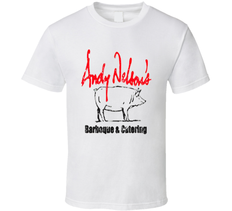 Andy Nelson BBQ Cookhouse Grill Smoked Foodie Worn Look T Shirt