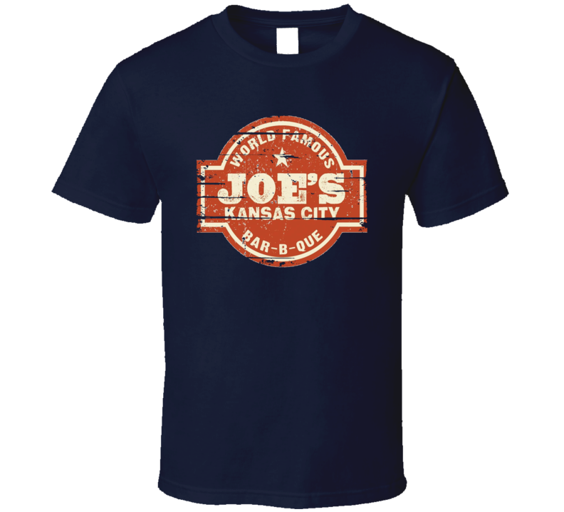 Joe's Kansas City BBQ Cookhouse Grill Smoked Foodie Worn Look T Shirt