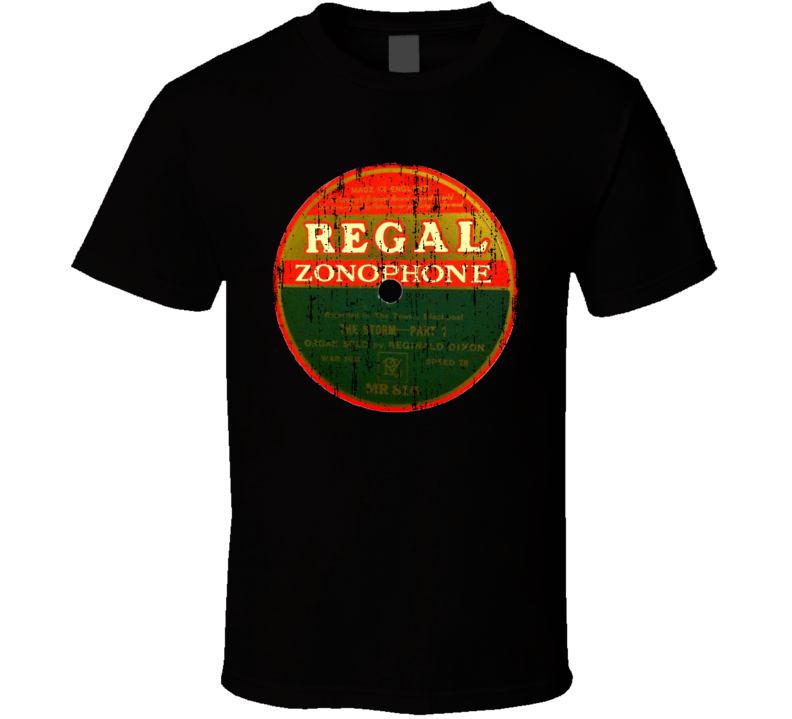 Regal Zonophone RPM Record Vintage Classic Music Worn Look T Shirt