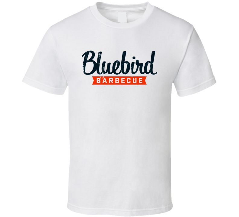 Bluebird BBQ Cookhouse Grill Smoked Foodie Worn Look T Shirt