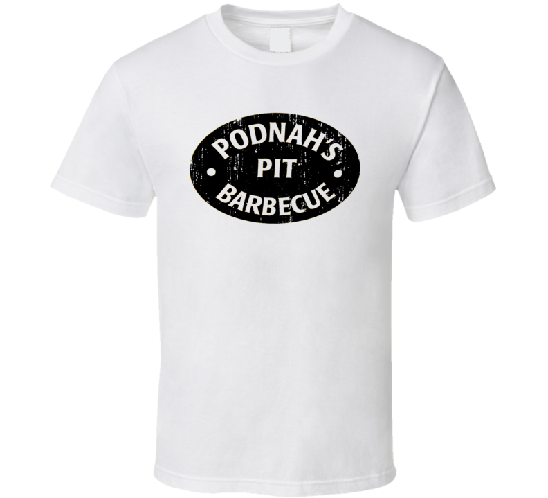 Podnah's PIt Cookhouse Grill Smoked Foodie Worn Look T Shirt