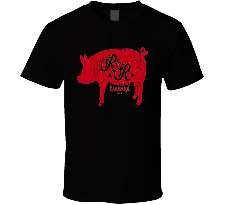 R&R BBQ Cookhouse Grill Smoked Foodie Worn Look T Shirt