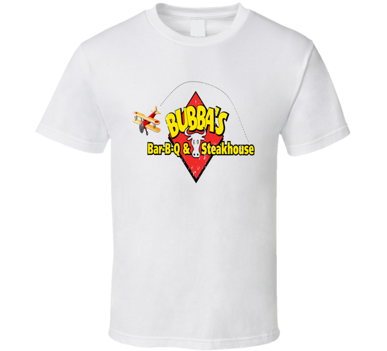 Bubba's BBQ Cookhouse Grill Smoked Foodie Worn Look T Shirt