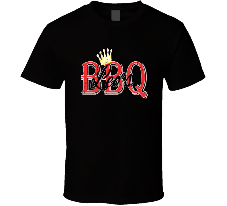 Leo's Barbeque Cookhouse Grill Smoked Foodie Worn Look T Shirt