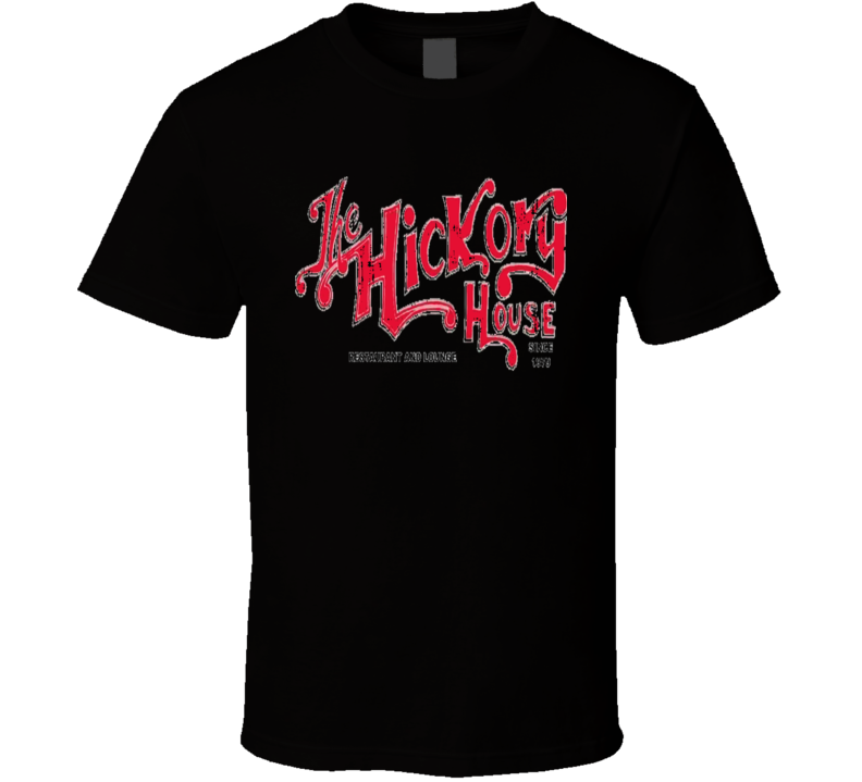 Hickory House Cookhouse Grill Smoked Foodie Worn Look T Shirt