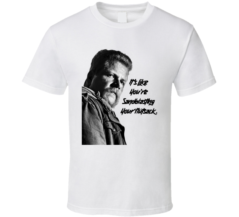 Walking Dead Season 7 Finale Abraham Quotes Sandblasting your Nutsack Funny T Shirt
