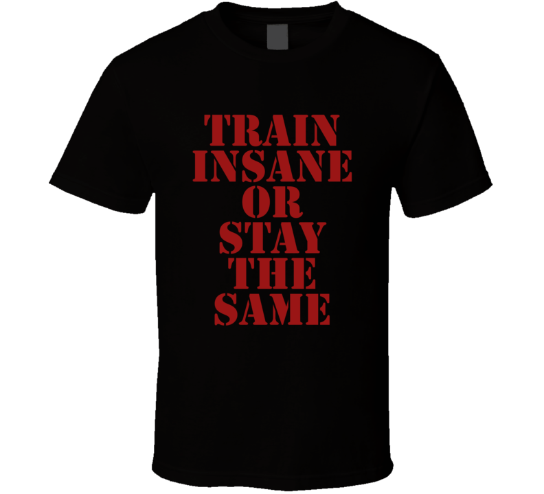 Train Insane Or Stay The Same Funny Exercise Workout Gym Cool T Shirt