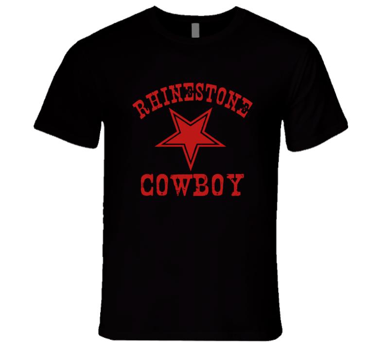 Rhinestone Cowboy Dallas Star Glem Campbell Tribute Memorial T Shirt