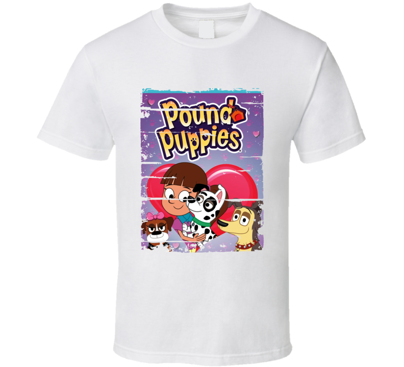 Pound Puppies Classic Cartoon Worn Look Animated Tv Series T Shirt