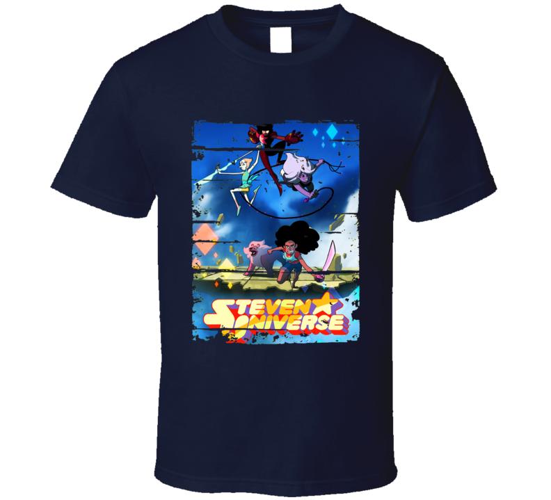 Steven Universe Cartoon Worn Look Animated Tv Series T Shirt