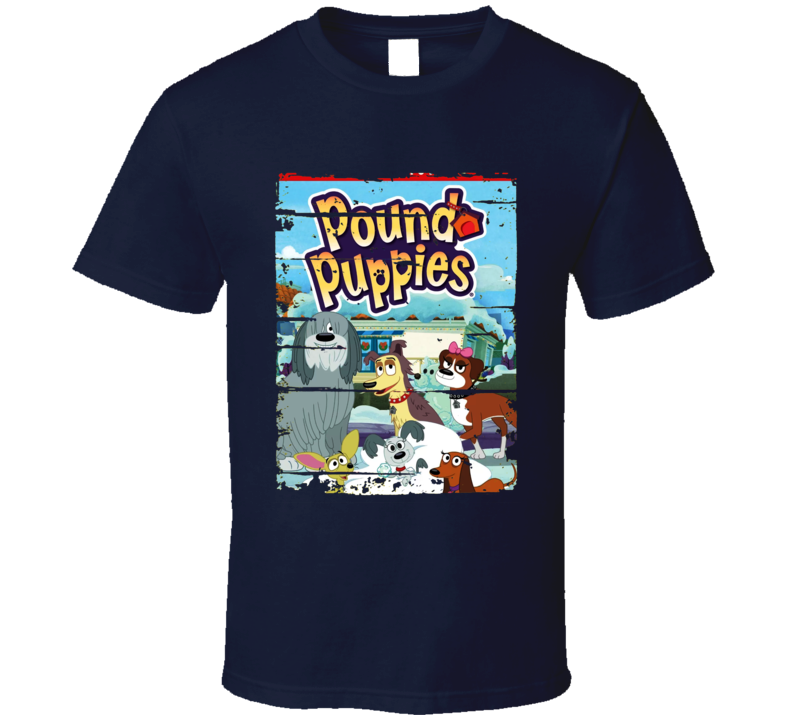 Pound Puppies Classic Cartoon Fan Worn Look Animated Tv Series T Shirt