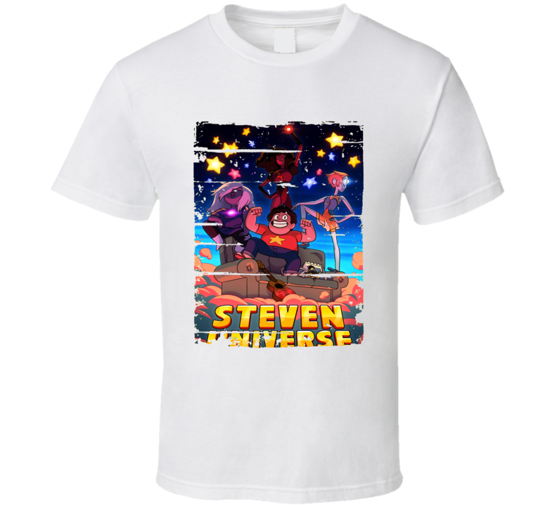 Steven Universe Cartoon Fan Worn Look Animated Tv Series T Shirt
