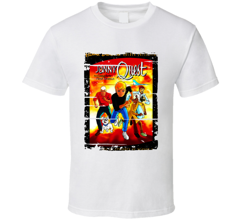 Johnny Quest Fan Cartoon Worn Look Tv Show Cool T Shirt