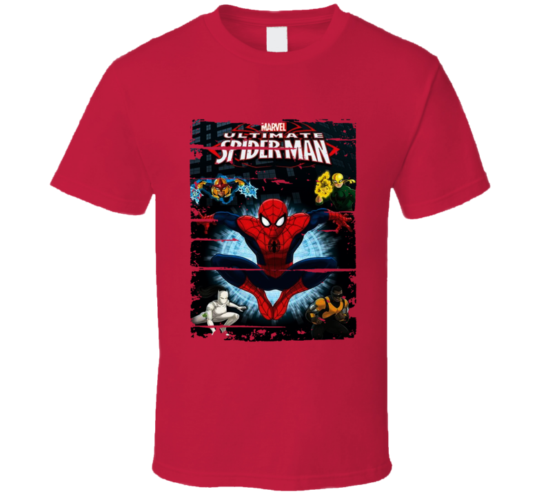 Ultimate Spider Man Cartoon Fan Worn Look Animated Tv Series T Shirt