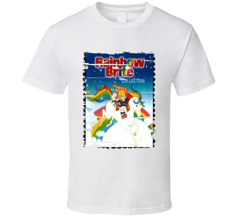 Rainbow Brite Classic Cartoon Worn Look Animated Tv Series T Shirt