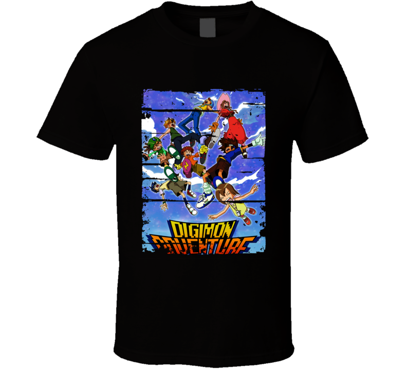 Digimon Adventure Cartoon Fan Worn Look Animated Tv Series T Shirt