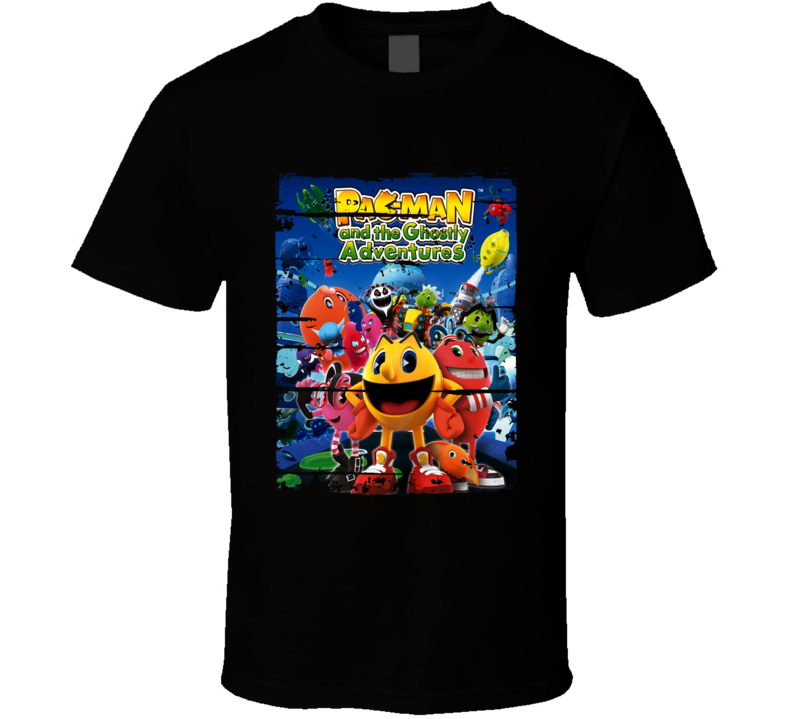 Pacman Ghostly Adventures Cartoon Worn Look Animated Tv Series T Shirt