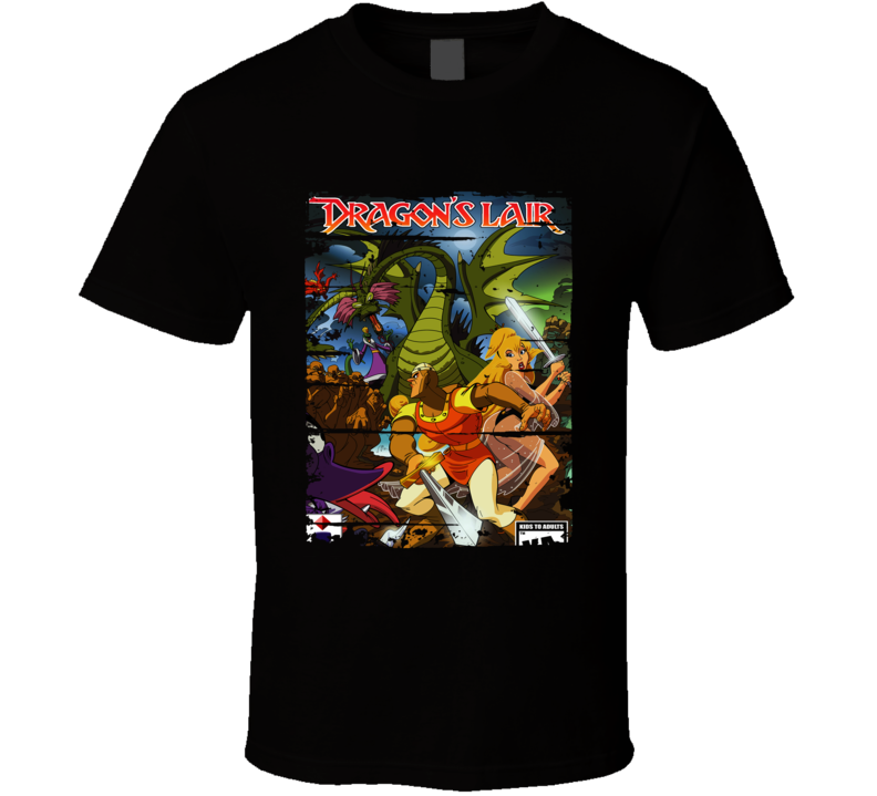 Dragons Lair Cartoon Worn Look Animated Tv Series T Shirt