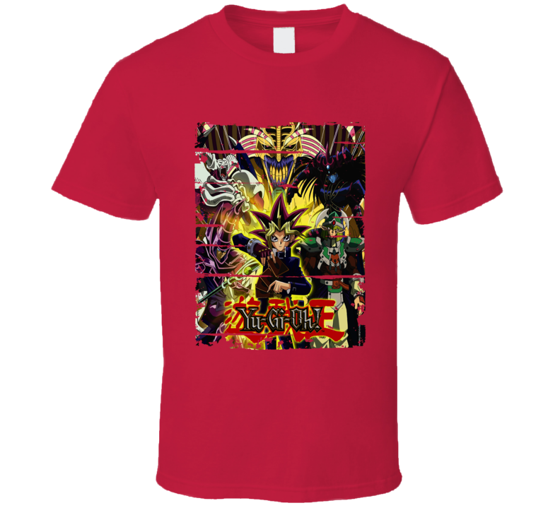 Yu Gi Oh Duel Monsters Cartoon Worn Look Animated Tv Series T Shirt