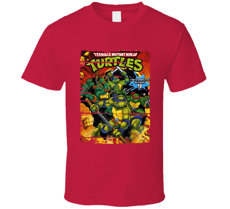 Mutant Ninja Turtles Cartoon Fan Worn Look Animated Tv Series T Shirt