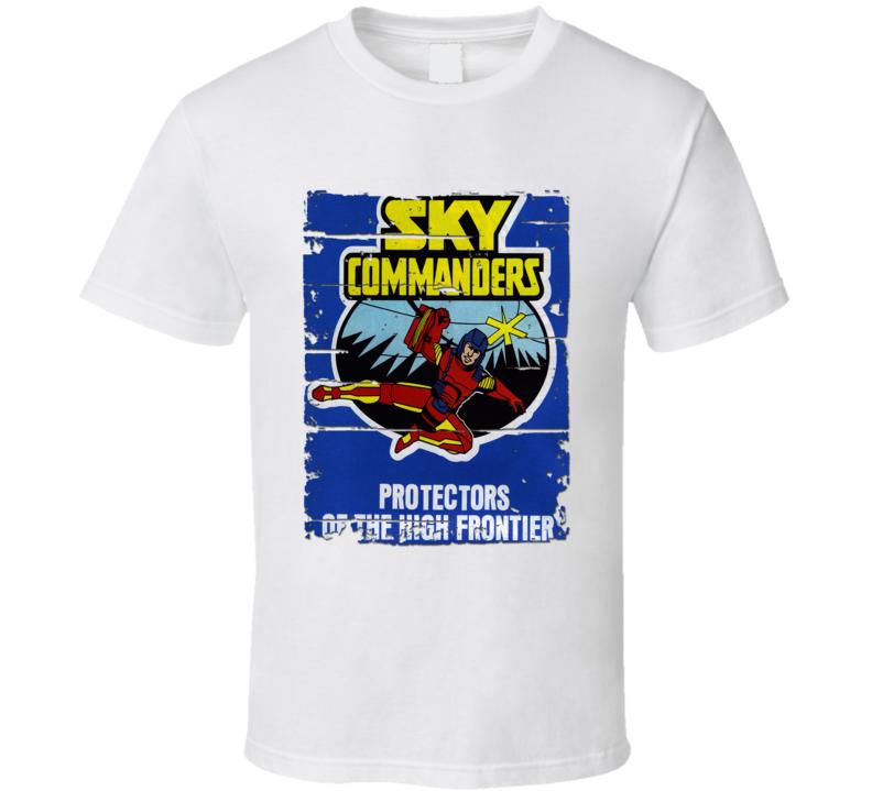 Sky Commanders Protectors Cartoon Worn Look Tv Show Cool T Shirt